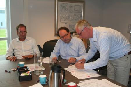 Van links naar rechts: Henk Stam, Bert Spijksma, Michiel Jansen.  Foto: Gouden Driehoek, Jenna Bottema.