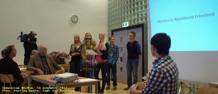 Verdeeld over werkgroepen presenteerden NetNixers hun themadocu's.