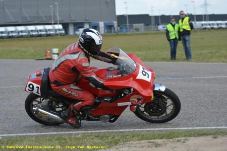 Tajan van der Wiel met de Japauto Honda CB 750.