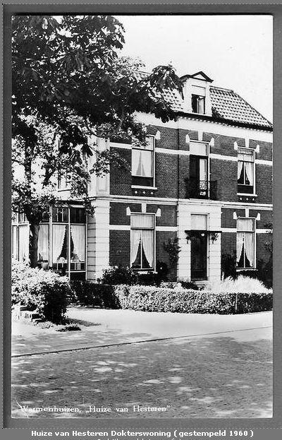 Dokterswoning van Hesteren rond 1960, collectie Peter Pronk