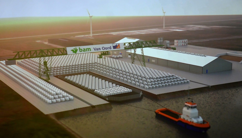 Impressie van het vervoer over water vanuit de Levvel-blokkenfabriek. (Afbeelding: Levvel)