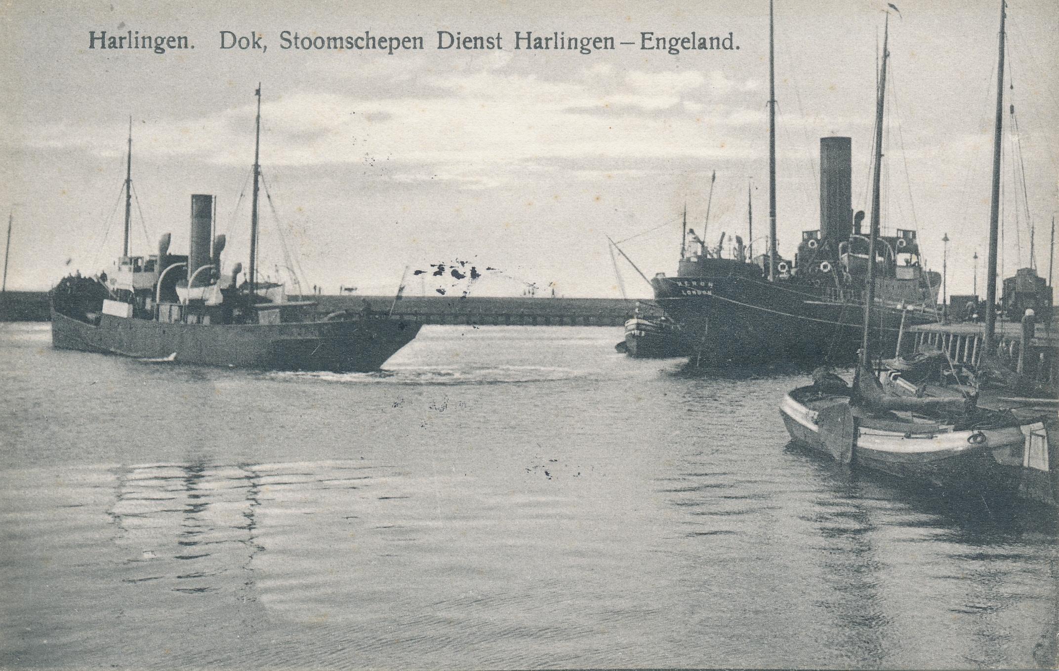 Harlingen Dokje. De Stoomschependienst Harlingen-Engeland.