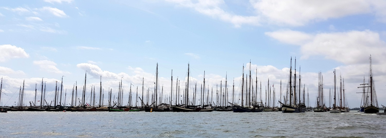 De vloot bij Pampus. (Foto's :Gijs van Hesteren)