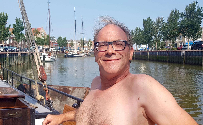 Arnaud Flierman. 'Het is intussen weer kneiterdruk op Terschelling en Vlie.' (Foto: Gijs van Hesteren)